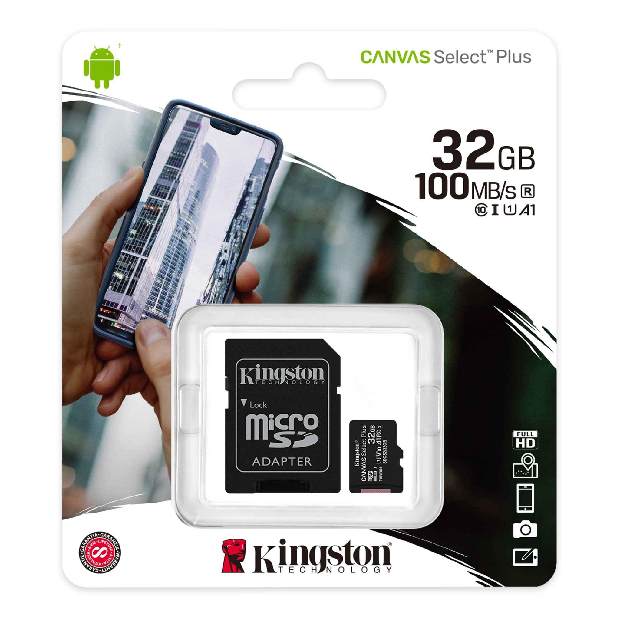 Memoria Micro Sd Kingston 32 Gb 100 MB/s