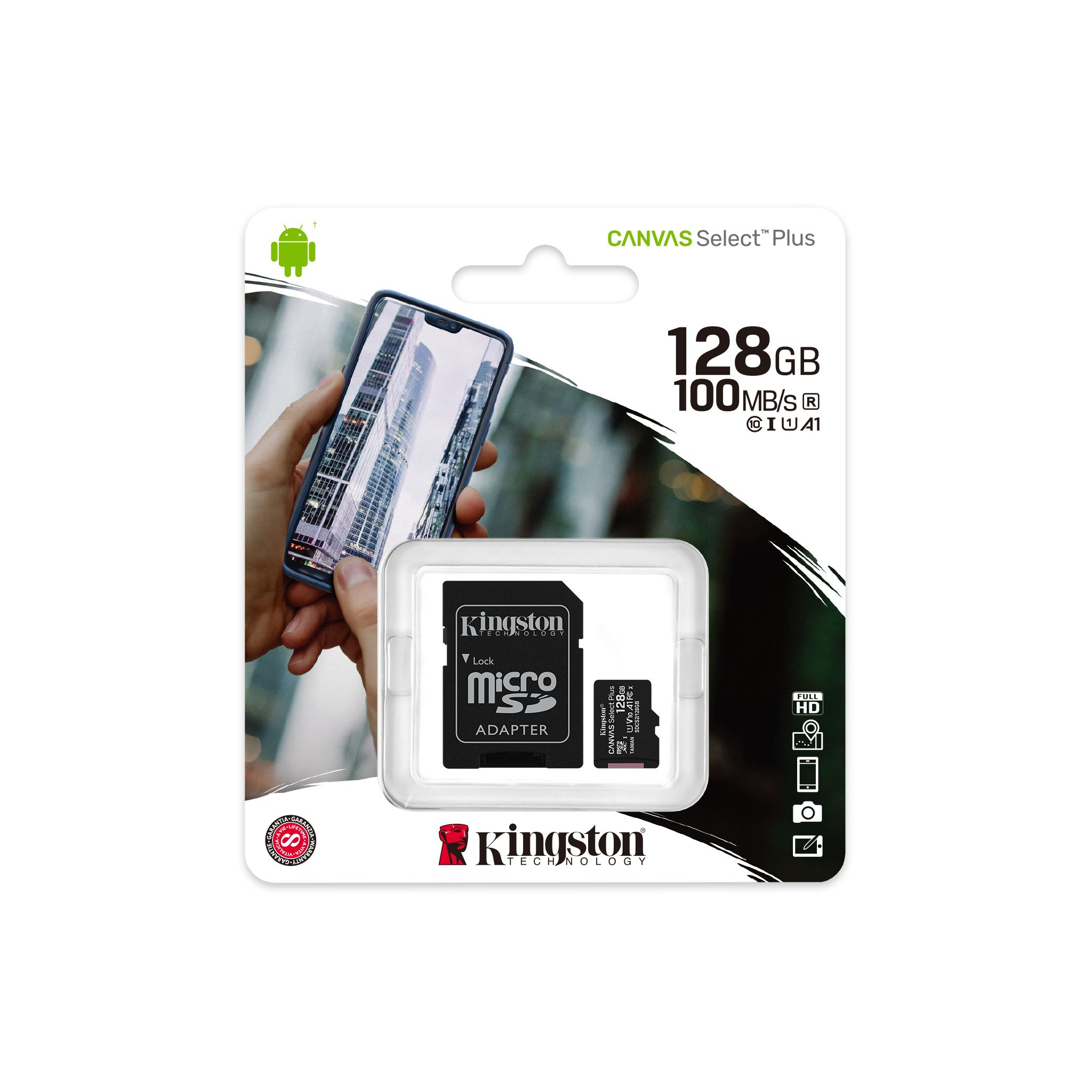 Memoria Micro Sd Kingston 128 Gb 100 MB/s