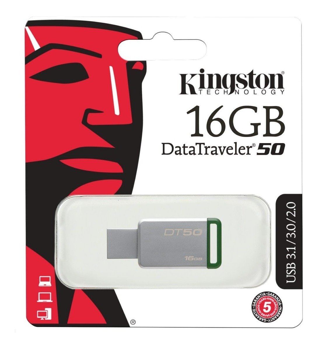 Pendrive 16GB Kingston DT50 USB 3.1